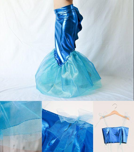 Costume queue de sirène avec haut & queue petite par AtelierSpatz