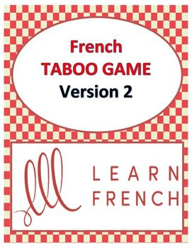 Playing TABOO in French is a great way to get students to speak French and learn a lot of new vocabulary. This game is simple to modify and use with beginners and advanced students alike.All of the words on the cards are in French and English. This is very useful as many of the words will be new to students.You may enjoy some of my other French TABOO GAMES:BEST BARGAIN: French Taboo Games Growing BundleFrench Taboo Game, Version 1French FAIRE expressions TABOO GameFrench HALLOWEEN Taboo…