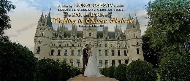 Max and Daria and their wedding in Chateau Challain is a new masterpiece of professional event videographer Alexander Znaharchuk  http://en.znaharchuk.com They saw the Chateau once and they fell in love with it. It was their dream to have a symbolic wedding ceremony there just for them two.