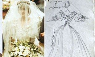 Princess Diana's wedding dress designer Elizabeth Emanuel's scrapbook up for auction | Daily Mail Online