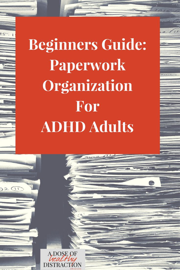 Do you struggle to organize and manage your paperwork? Me, too!  Between mail, children's artwork and important documents I was drowning. Here is my beginners guide to paperwork organization for ADHD adults. #paperwork #organization