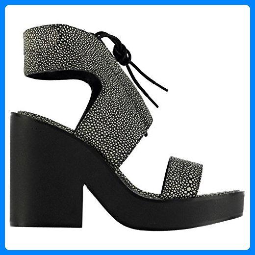 Windsor Smith Damen Plattform Schuhe Leder Sandalen Blockabsatz Sandaletten White/Stingray 5 (38) - Sandalen für frauen (*Partner-Link)