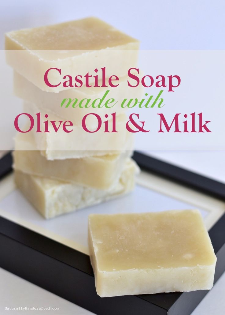 Homemade Castile Soap with Olive Oil & Milk, Hot Process