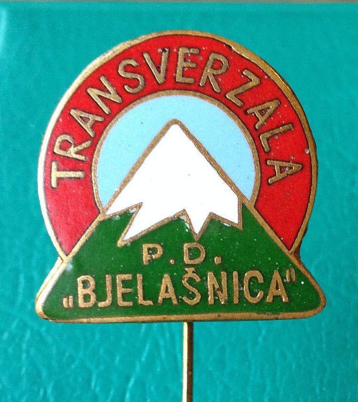 BOSNIA - Mountaineering Club BJELASNICA Transversal - enameled badge 1960s Kasun