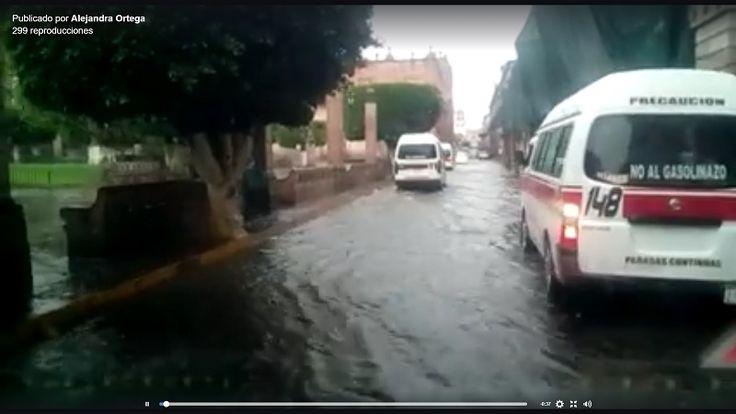 Tras la fuerte lluvia de esta tarde, se reportan encharcamientos en Tres Puentes, calle Allende, Calzada Madero, Boulevard García de León, Avenida Camelinas y Calzada Juárez – Morelia, Michoacán, 24 ...