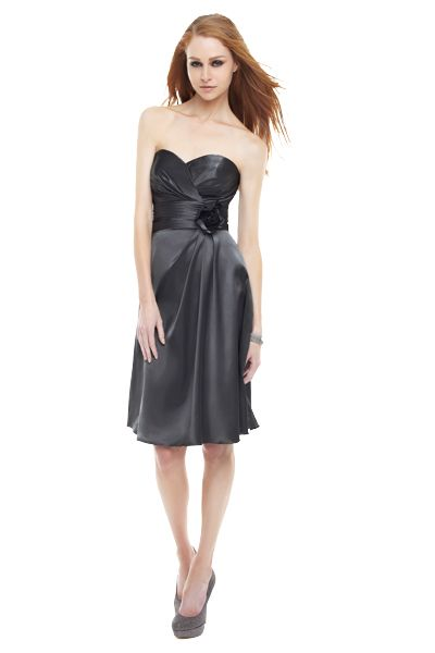 grey bridesmaid dress | Shades of Grey: Bridesmaid Dresses and Accessories | Wedding Planning ...