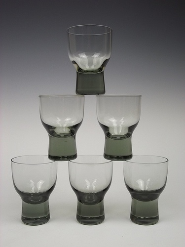 Holmegaard 'Canada' cocktail glasses by Per Lutken