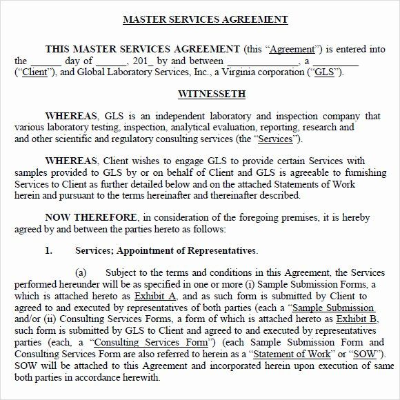 40 Master Service Agreement Template In 2020 Agreement