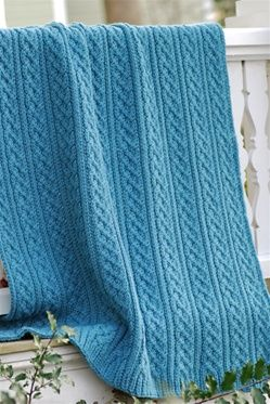 Cozy Cable and Rib Afghan ♥LLKA♥ with FREE pattern and it has color picture instructions ♥♥♥♥