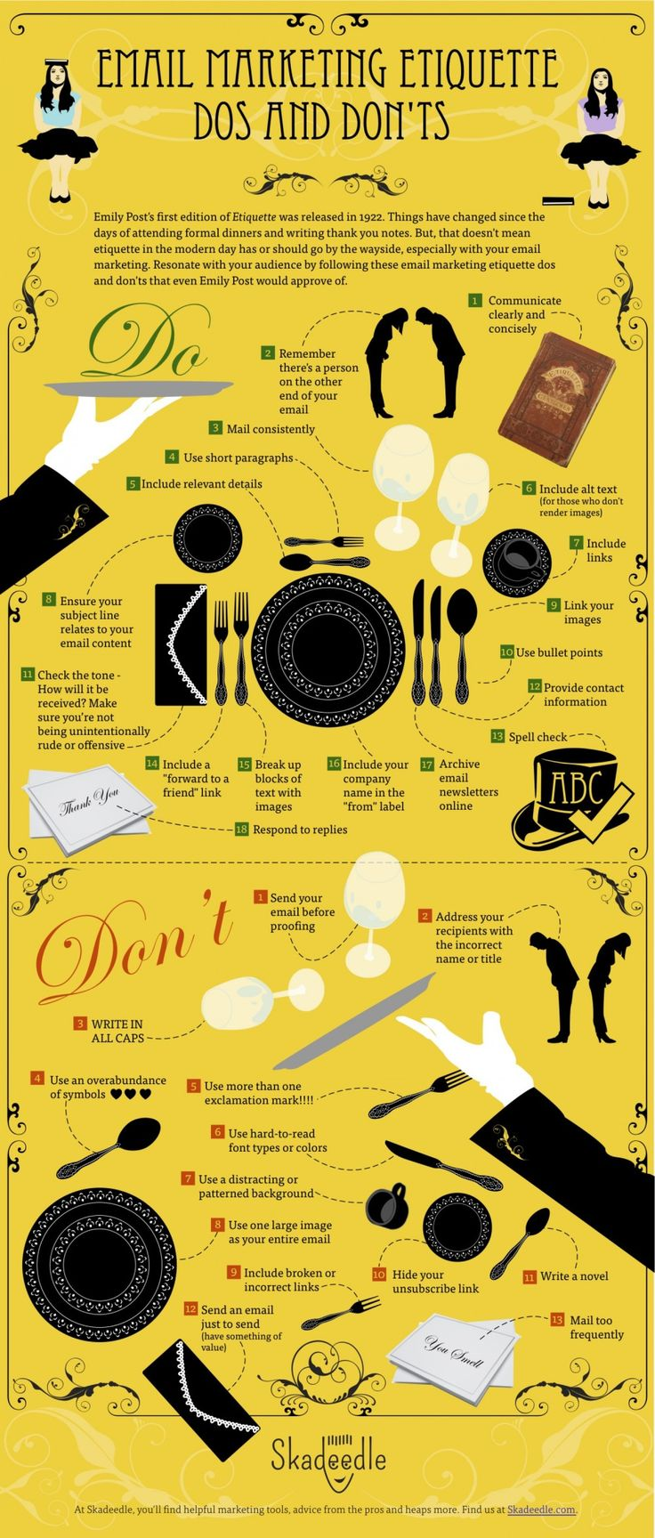 Email Marketing Etiquette Dos and Don'ts Infographic