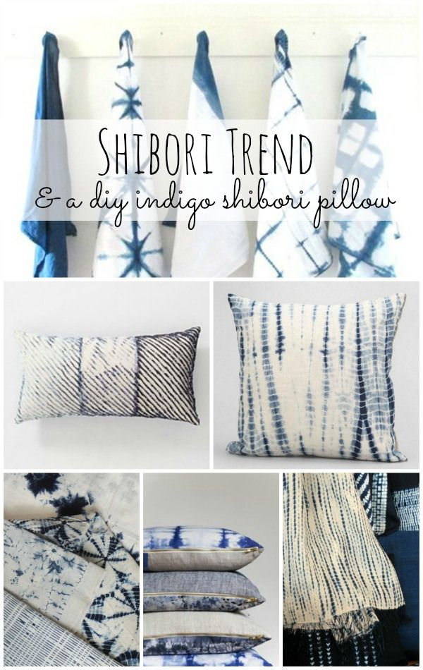 DIY Shibori Pillow - So easy & FUN to make!