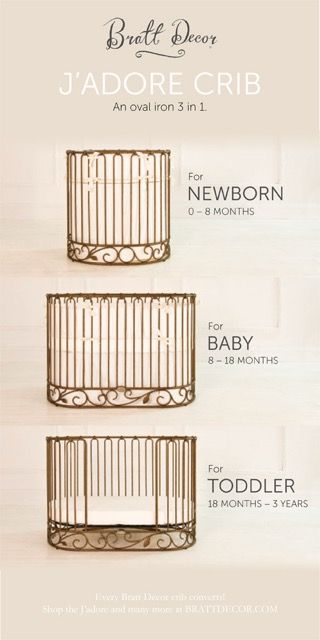 Ultimate style and convertibility in this gorgeous #baby #crib by #brattdecor… More