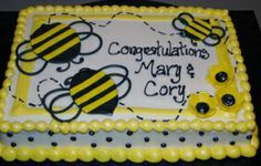 bumble bee sheet cakes - Google Search