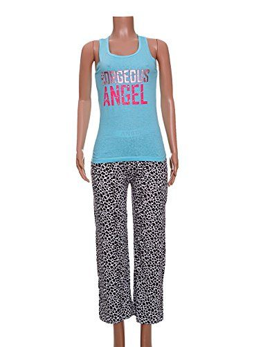 58564b7d8b1e5 Love to Sleep Women s Tank Top and Pants Pajama Lounge PJ Set