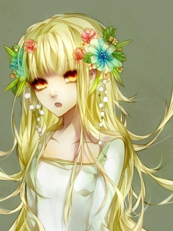 beautiful women with yellow hair