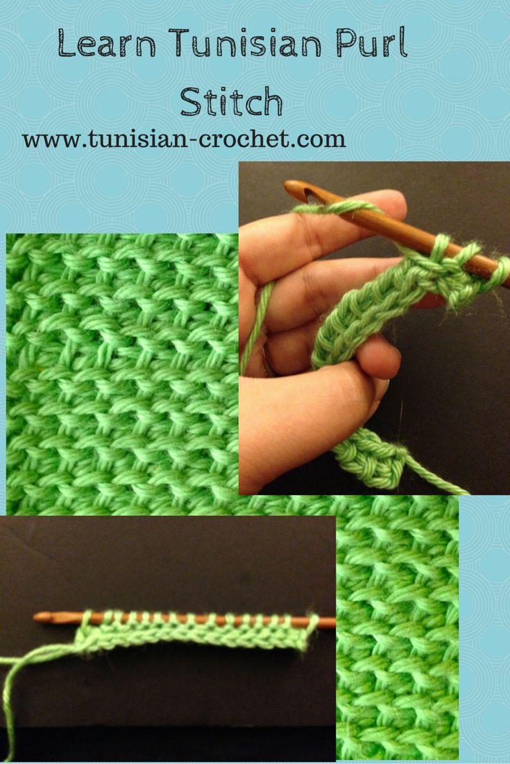 Learn Tunisian Purl Stitch