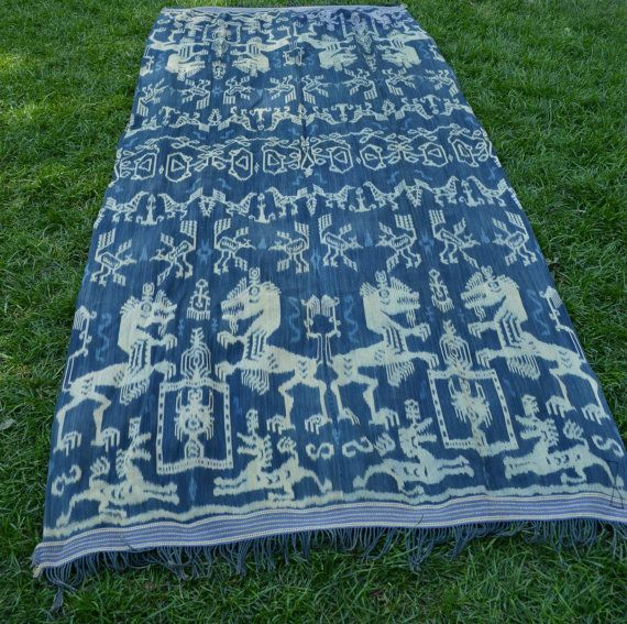 Indonesian Textile  Vintage Handwoven Indonesian Blanket by JIwest, $585.00- I DIE!!!