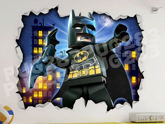 Lego Batman 3d Look Wall Vinyl Sticker Poster Marvel Dc By