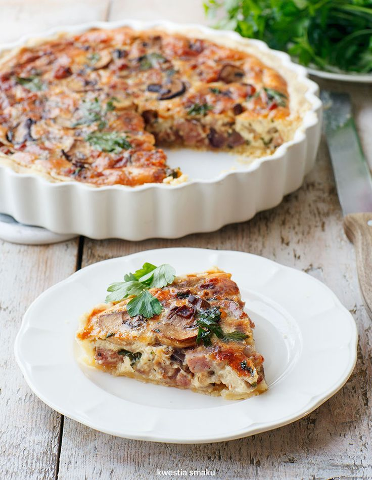 Sausage, Carmelised Onion, Mushroom & Gruyère Quiche