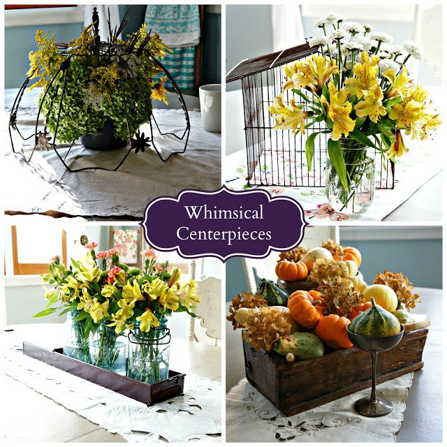 Whimsical Perspective: A Fall Centerpiece - Junk Inspired