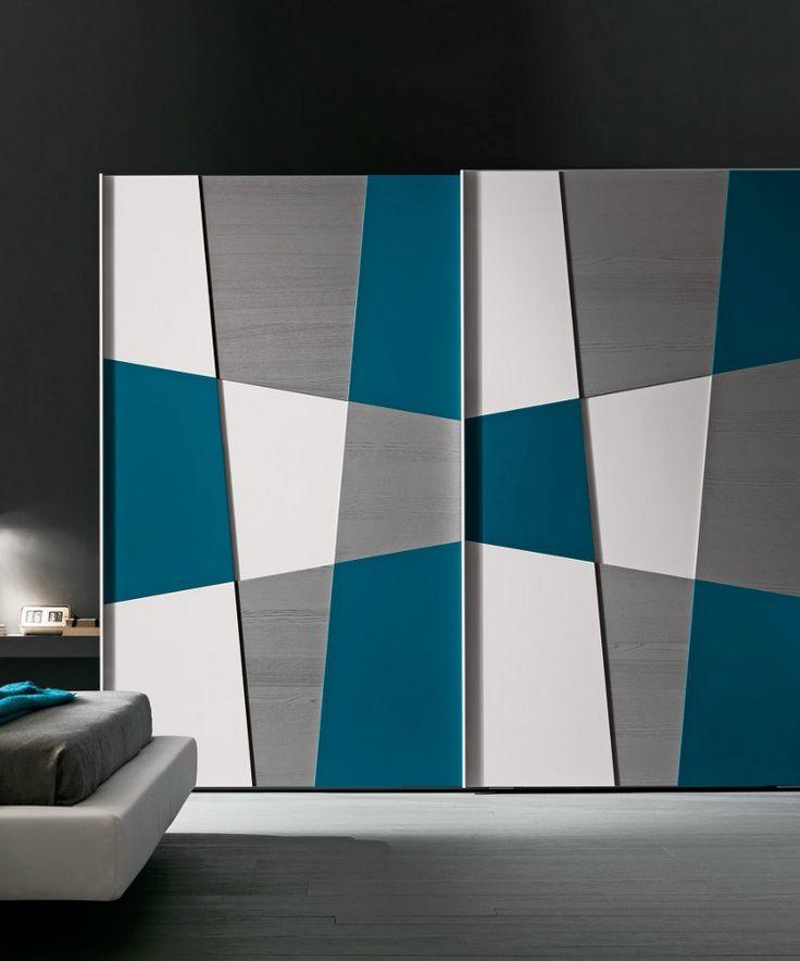 Sectional lacquered #wardrobe with sliding doors SHAPE by Presotto Industrie Mobili | #design Pierangelo Sciuto @presottoitalia