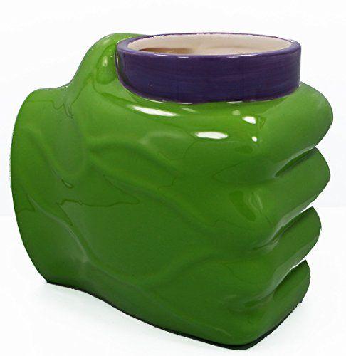 Officially Licensed Marvel Comics Green The Incredible Hulk Hand Mug 22 oz #CoffeeMug #Hulk #Avengers #Marvel #AgeOfUltron #IronMan #Thor #CaptainAmerica