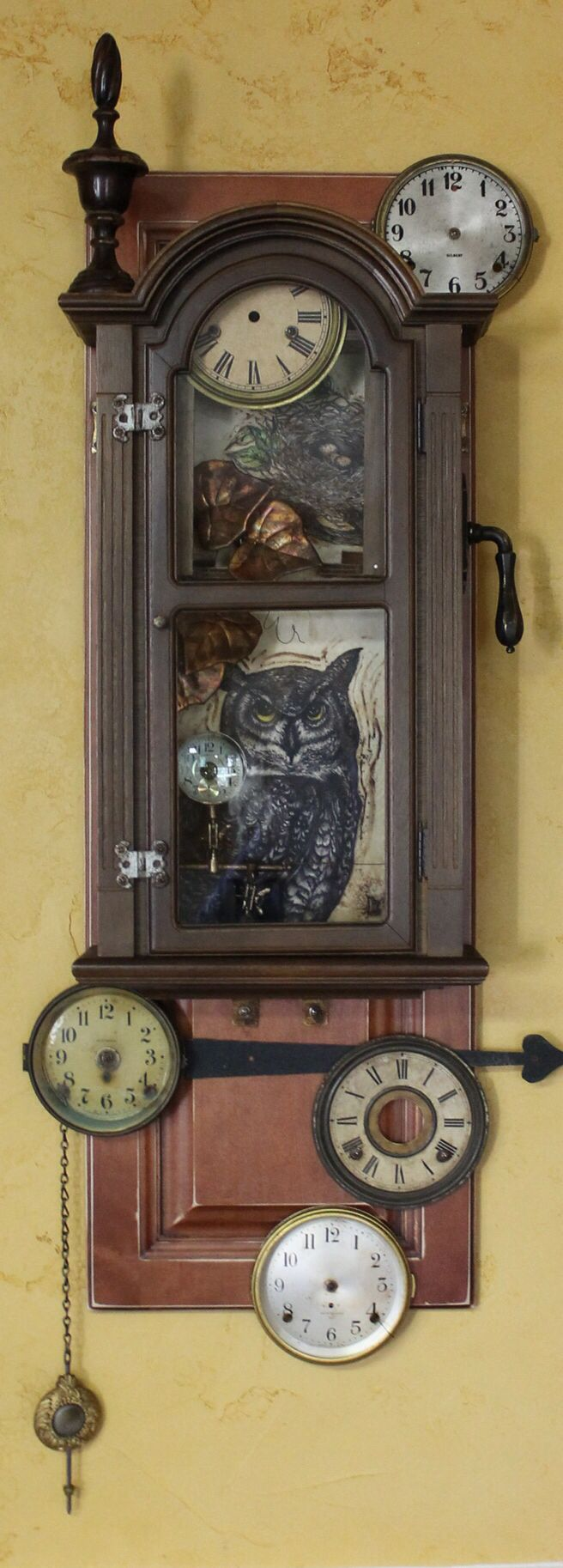 """""""Timeless""""--Assemblage--Encaustic, Found Objects, Ink, and Oil--Artist: Kathy…"""