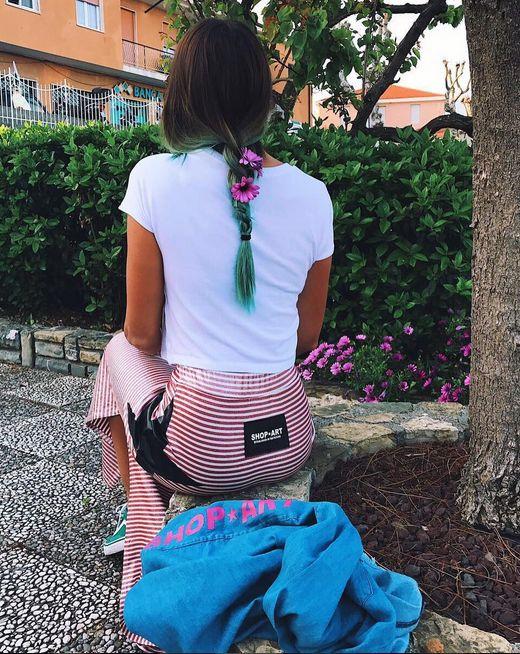 LOVE STRIPES @ravottimartina for SHOP ART #springsummer17 #clothing #collection ✔️ #stripes #longskirt #denim#shirt #theoerfectlook #shopartmania