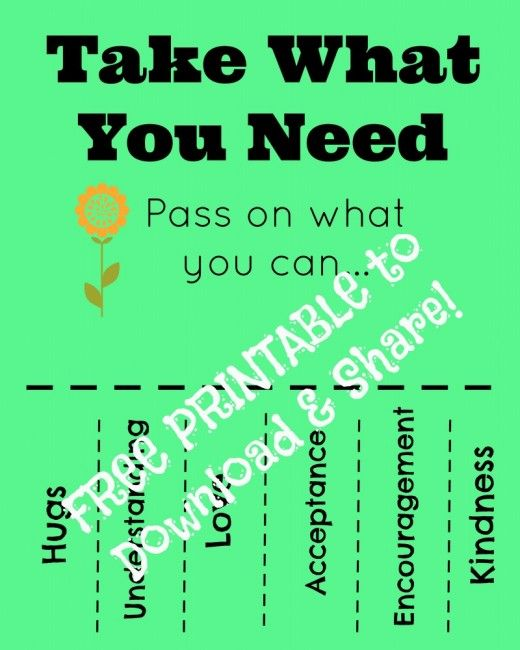 Take What You Need Printable