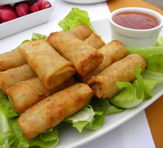 Crispy Spring Rolls | Hadia's Lebanese Cuisine.  http://www.hadiaslebanesecuisine.com/?q=node%2F129