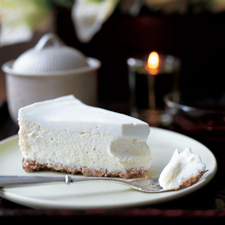 Vanilla Bean Cheesecake  with Walnut Crust  Walnuts instead of a biscuit base....sounds gooooood!