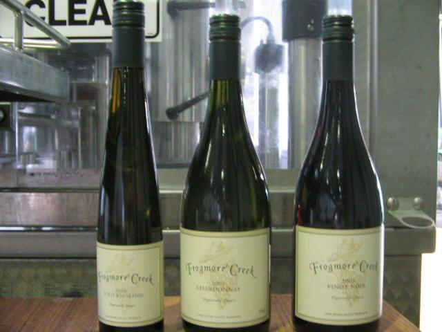 Frogmore Creek organic wine, Tasmania