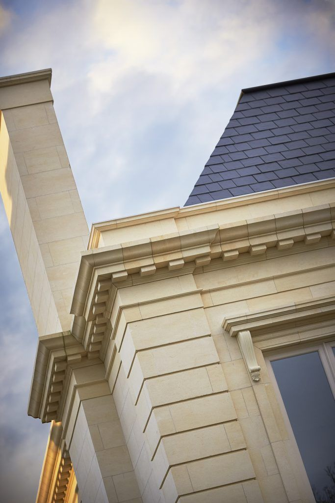 Limestone Detail In Luxurious French Provincial Style Home Built By Melbourne Custom Builder