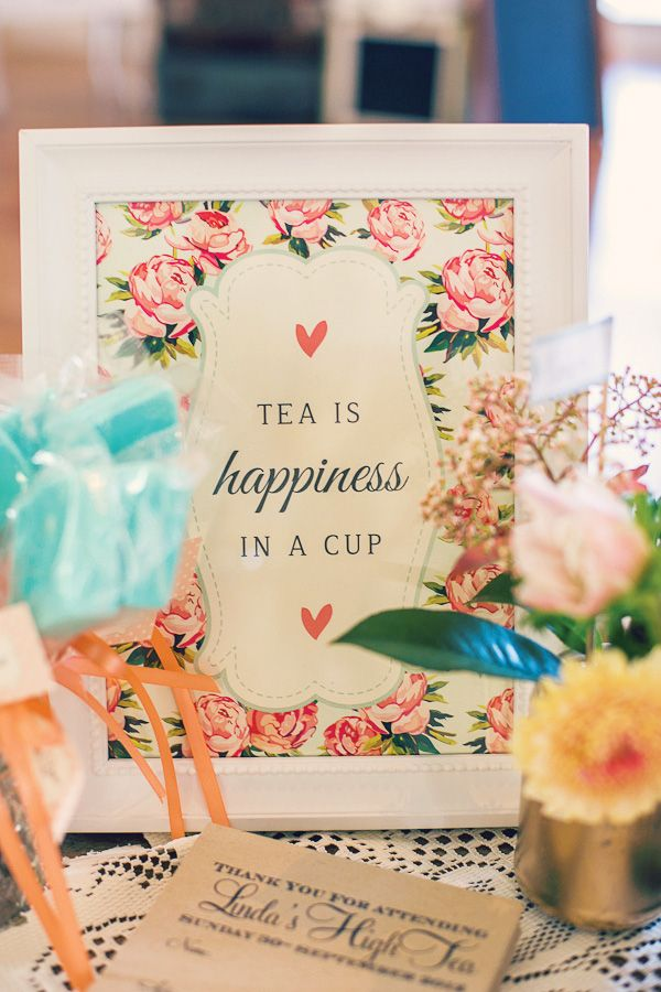 """Peaches & Blooms"" Vintage Floral High Tea Bridal Shower"