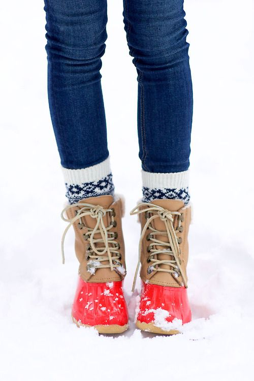 My mom always dressed like this in. The winter. Every time I see these boots I think of her. Lol