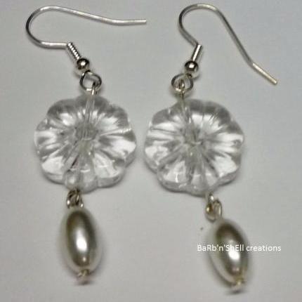 Earrings - Flower and pearl - BaRb
