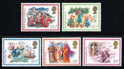 Christmas 1982 Stamps -  Great Britain #1006-1010 Stamps - EU GB 1006 to 1010-1 MNH