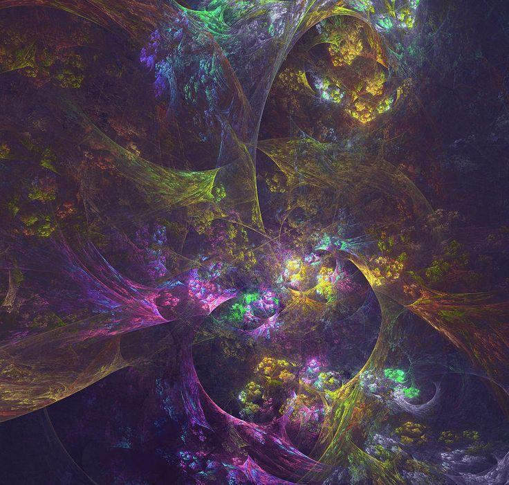 Fractal Digital Art - Inside Another World by Mariia Kalinichenko. Beautiful abstract fractal created in Chaotica program. #MariiaKalinichenko