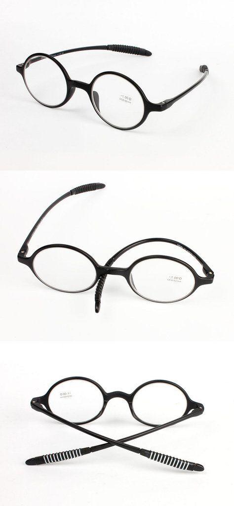 UVLAIK Men Women Readers Reading Glasses Lightweight Presbyopic  Small Round Frame Transparent Eyeglasses