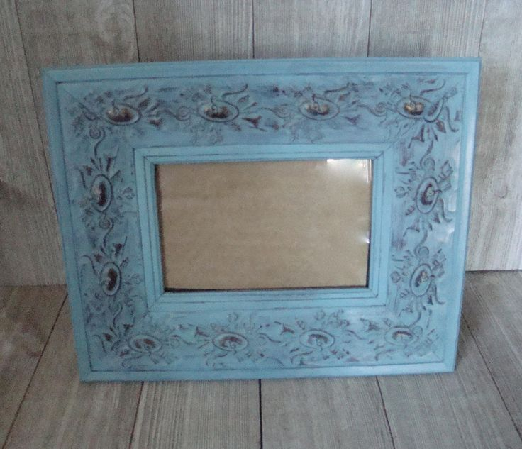 Teal Picture Frame, 4 X 6 Frame, UpCycled Picture Frame, Ornate Picture Frame, Boho Frame, Wedding Frame, Nursery Frame by LuluAndMomsBoutique on Etsy