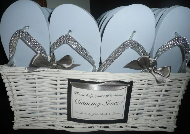 wedding ideas flip flop basket diamante wedding flip flop baskets for guests fully 28103