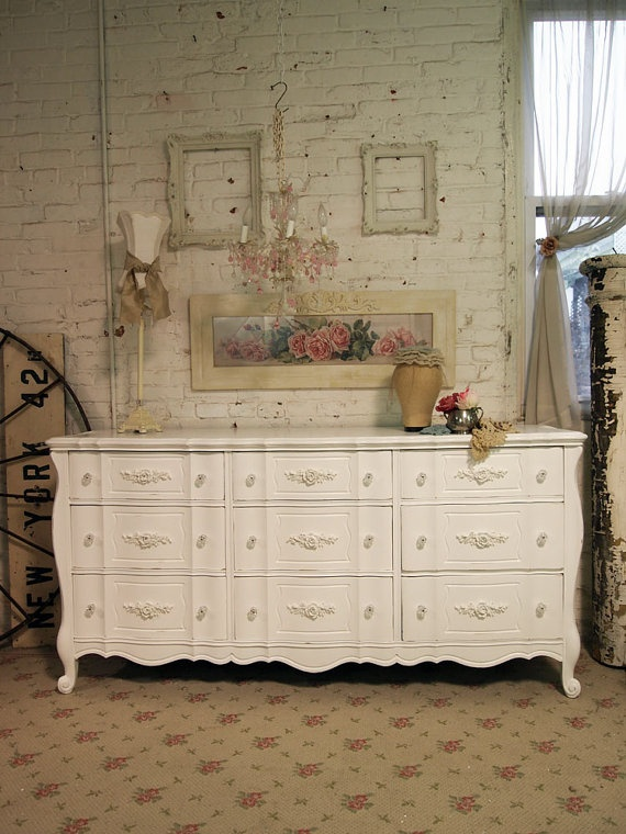 Painted Cottage Shabby White Fancy French by paintedcottages, $525.00: Paintings Furniture, Favorite Places, Cottages Shabby, Paintings Cottages, Future Rooms, 525 00 Etsy, Fancy French, Future Spaces, Girls Rooms