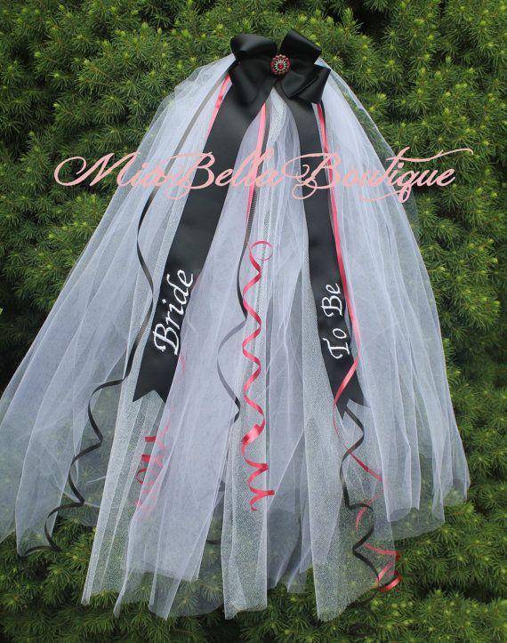 BACHELORETTE Bridal Veil, Bridal Shower Veil, Girls Night Out, Party Veil CUSTOM Made