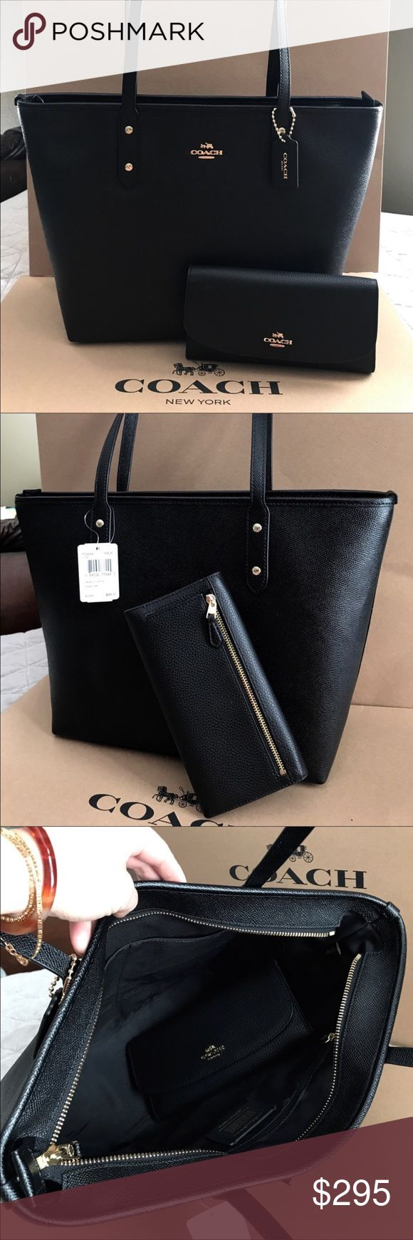 Coach Set 100% Authentic Coach Tote Bag and Checkbook Wallet, both brand new with tag! Coach Bags Totes