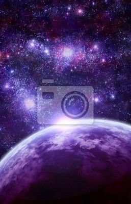 Fototapeta fantasy space scéna
