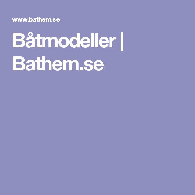 Båtmodeller | Bathem.se