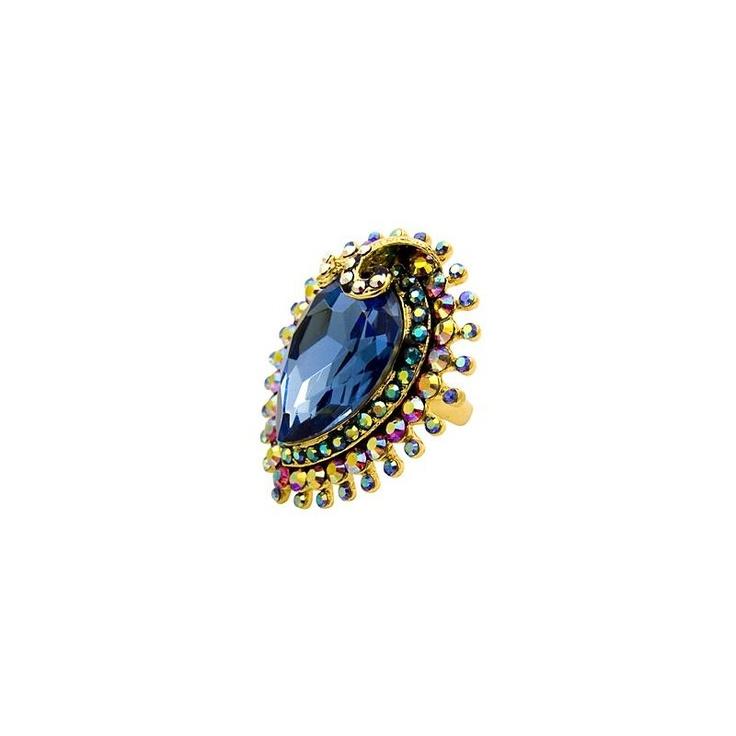 Butler & Wilson Blue Crystal Ring