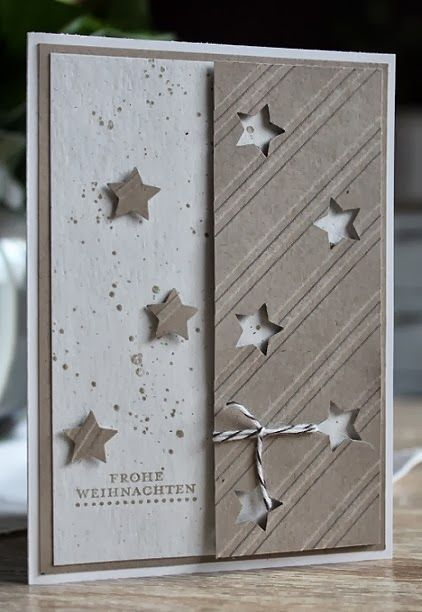 Fienchen´s Stempelwelt: Die ersten Weihnachtskarten Makes a great masculine card, but could be used for anyone.
