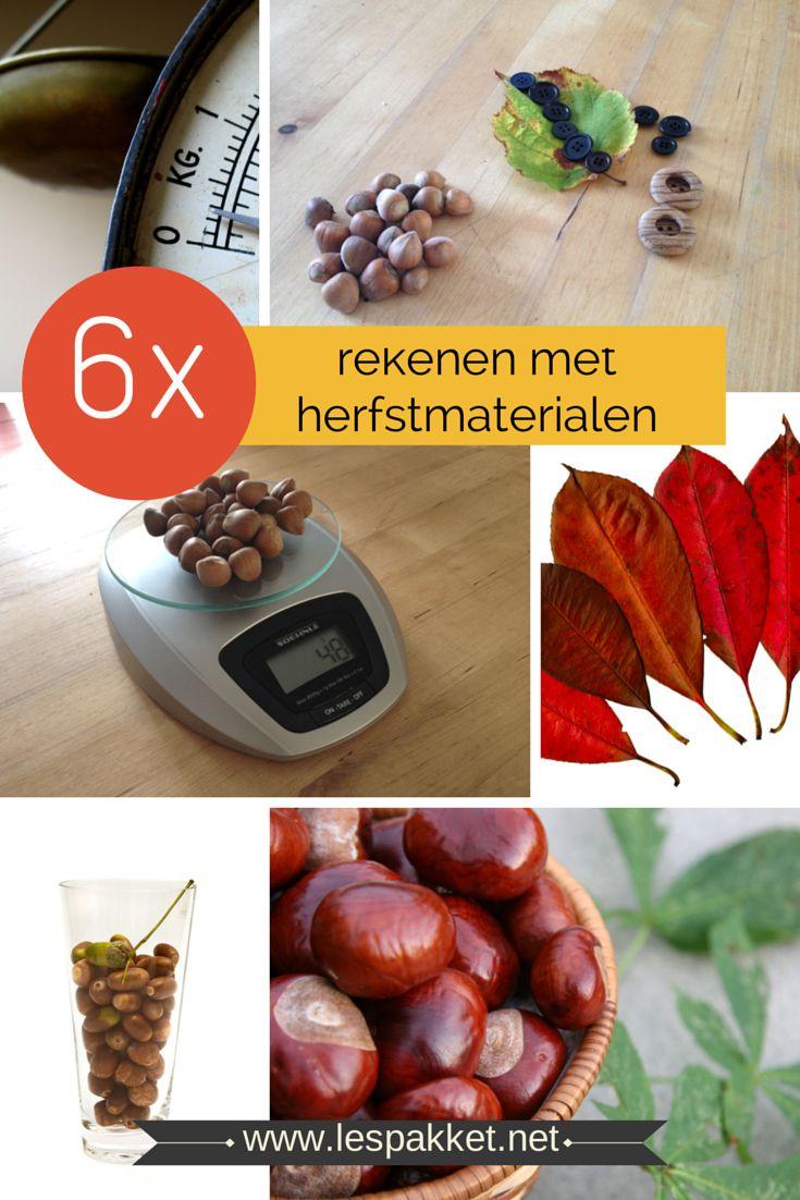 Goed(koop) onderwijs: 6x rekenen met herfstmaterialen
