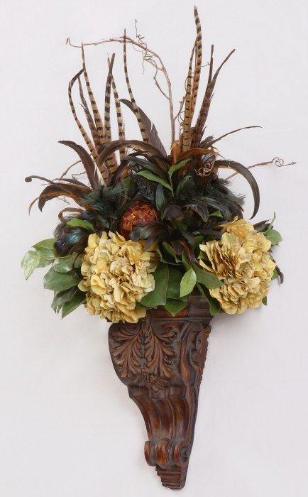 78 best Wall Flower Arrangments images on Pinterest ... on Wall Sconce Floral Arrangements Arrangement id=75844